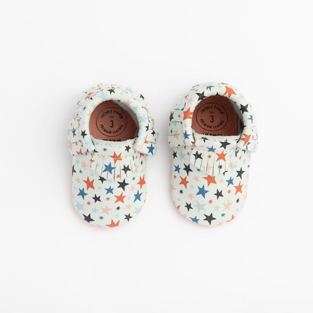 Star Explosion Moccasins Soft Soles
