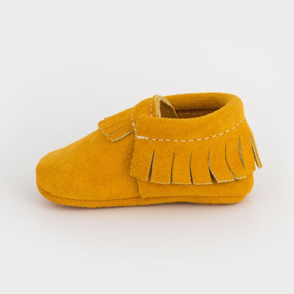 Stay Golden Suede Moccasins Soft Soles