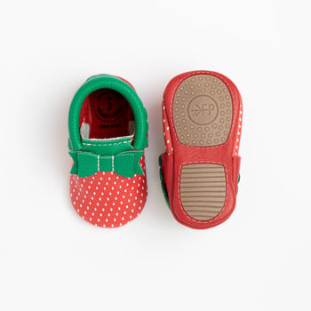 Strawberry Bow Mocc Mini Sole | Pre-Order