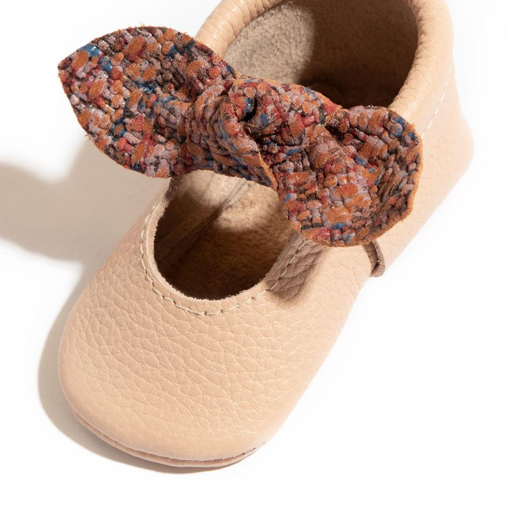 Summer Tweed Knotted Bow Mocc Mini Sole knotted bow mocc mini sole