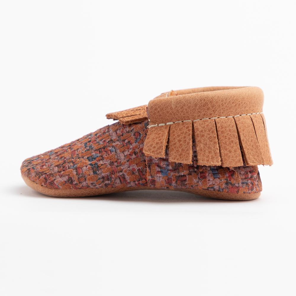Summer Tweed Moccasins Soft Soles