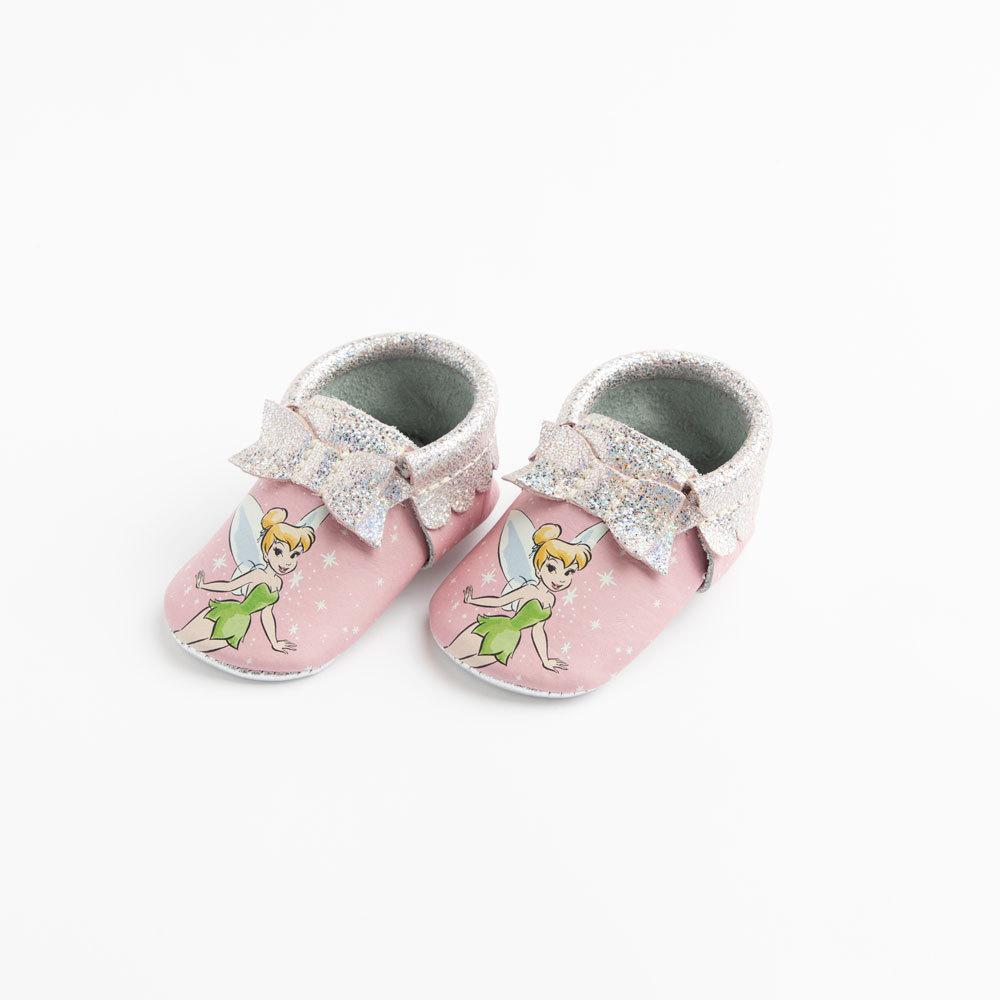 Tinker Bell Bow Mocc Bow Moccasins Soft Soles