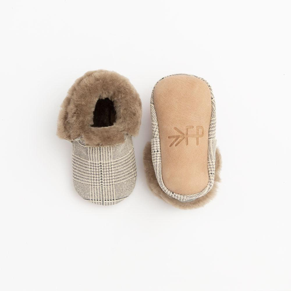 Toffee Plaid Shearling Mocc Shearling Mocc Soft Soles