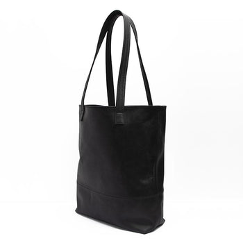 Onyx Leather Tote Leather Tote Lindon Bags