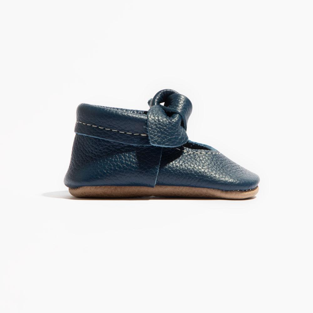True Navy Knotted Bow Mocc Mini Sole II Knotted Bow Mocc Mini Sole II