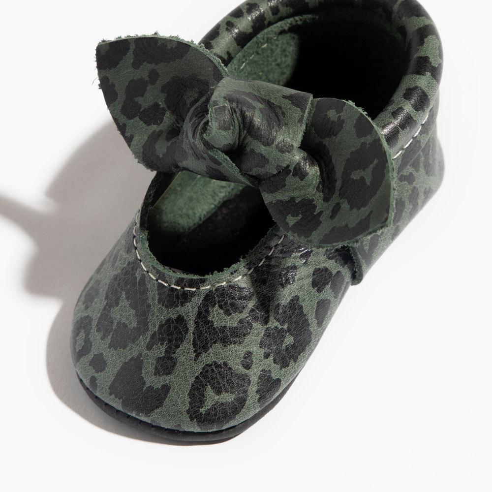 Uinta Leopard Knotted Bow Mocc Mini Sole knotted bow mocc mini sole