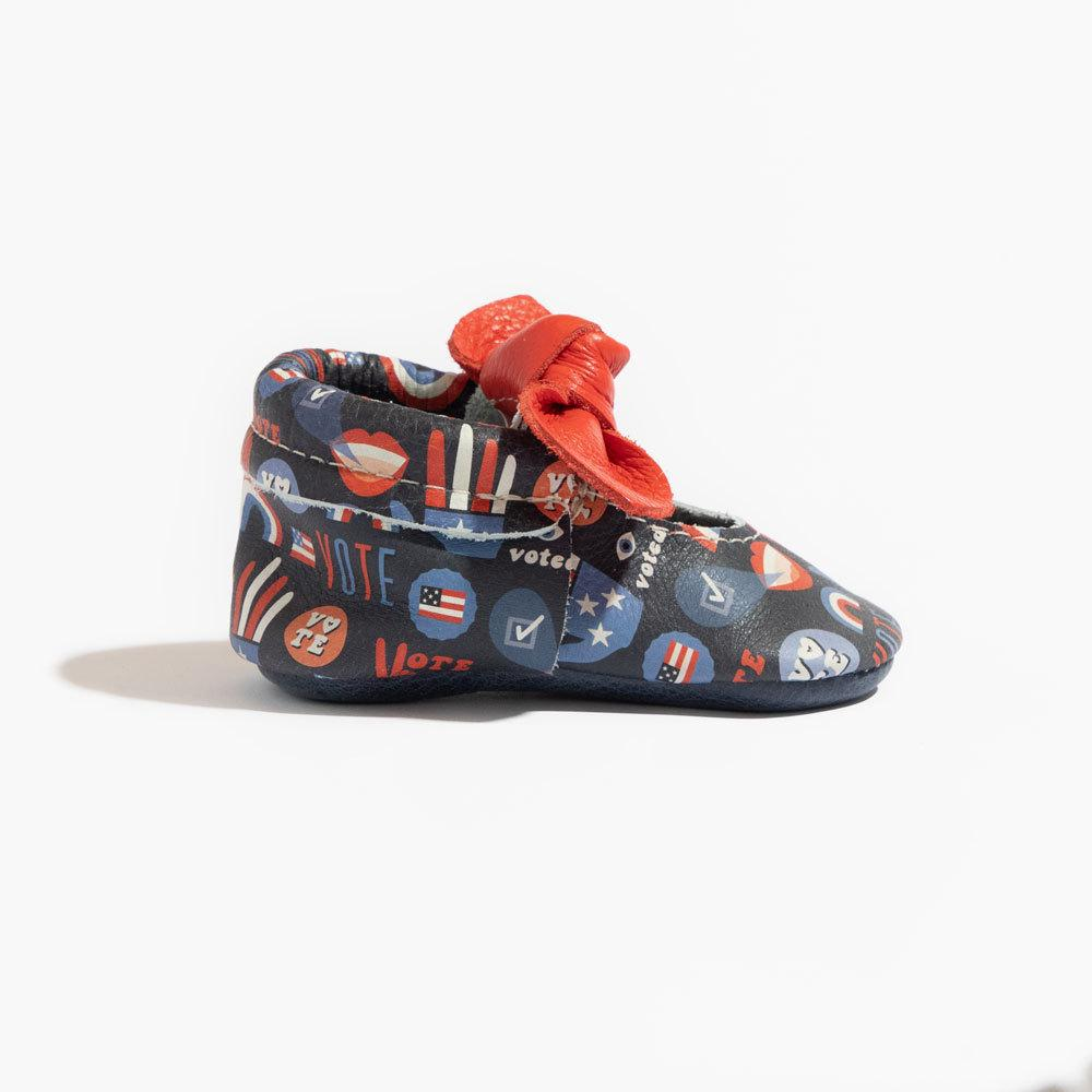 Vote Knotted Bow Mocc Mini Sole knotted bow mocc mini sole