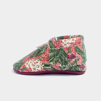 Warm Jungle Floral Moccasins Soft Soles
