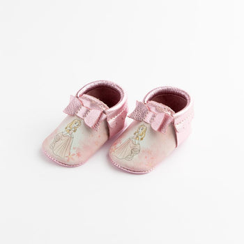 Watercolor Aurora Bow Mocc Bow Moccasins Soft Soles
