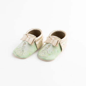 Watercolor Tiana Bow Mocc Bow Moccasins Soft Soles
