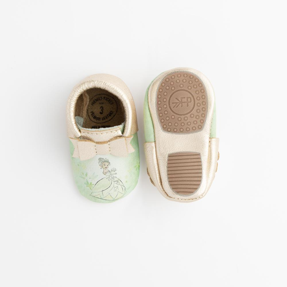 Watercolor Tiana Bow Mocc Mini Sole Mini Sole Bow Moccasin mini soles