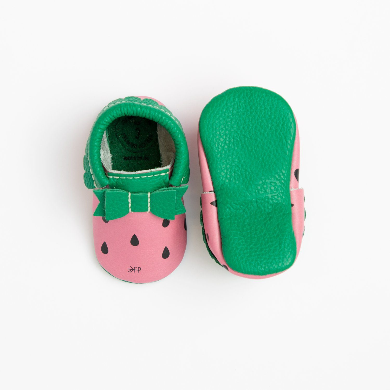 Watermelon Bow Mocc | Pre-Order Bow Moccasins Soft Soles