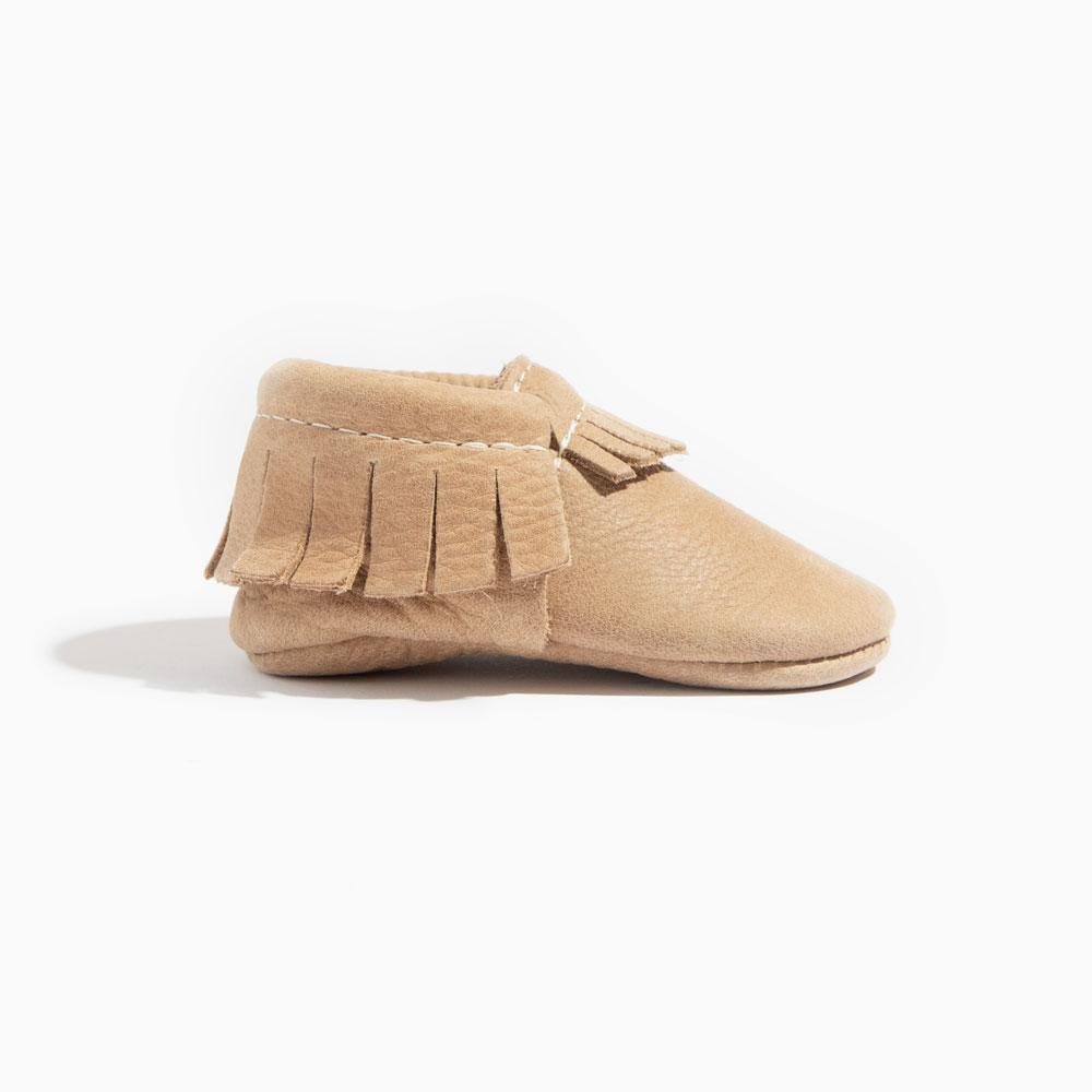 Weathered Brown Moccasins Soft Soles