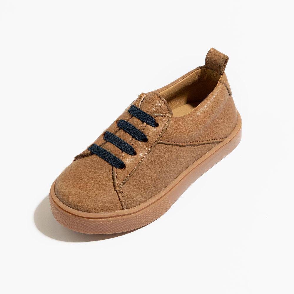 Weathered Brown with Navy Classic Lace-Up Sneaker Freshly Picked