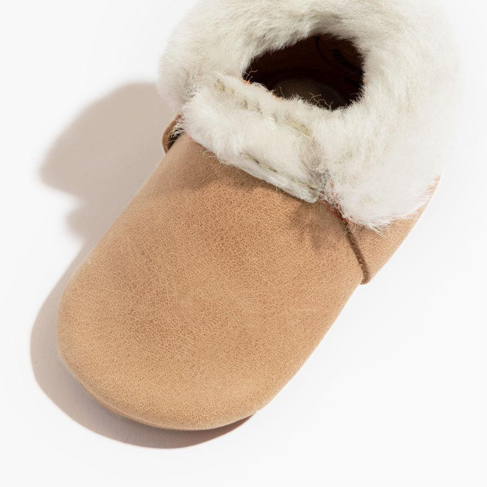 Weathered Brown Shearling Mini Sole Mini Sole Shearling Mocc mini soles