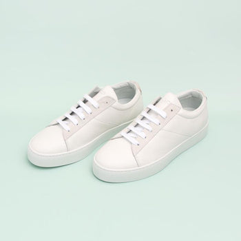 Women's White Classic Lace-Up Sneaker Women's - Lace-Up Women's Sneakers