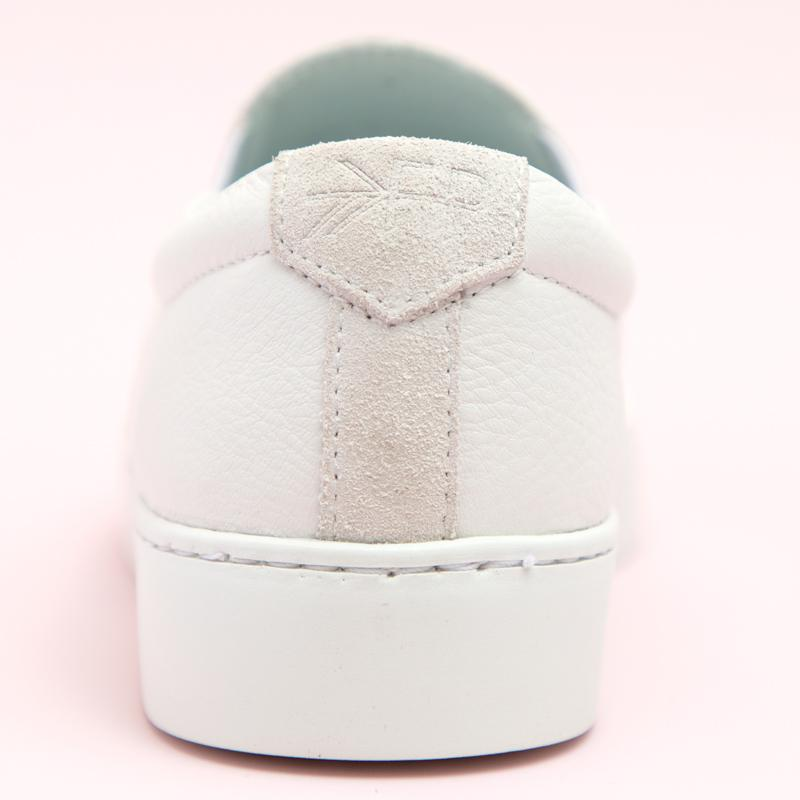 Women's White Slip-On Sneaker