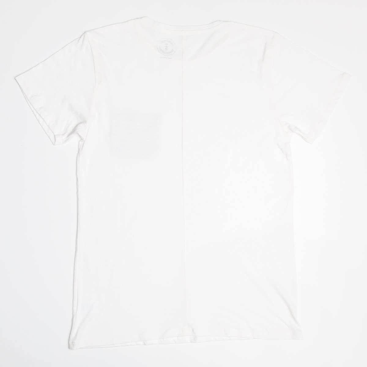 White with Striped Pocket Slouchy Tee