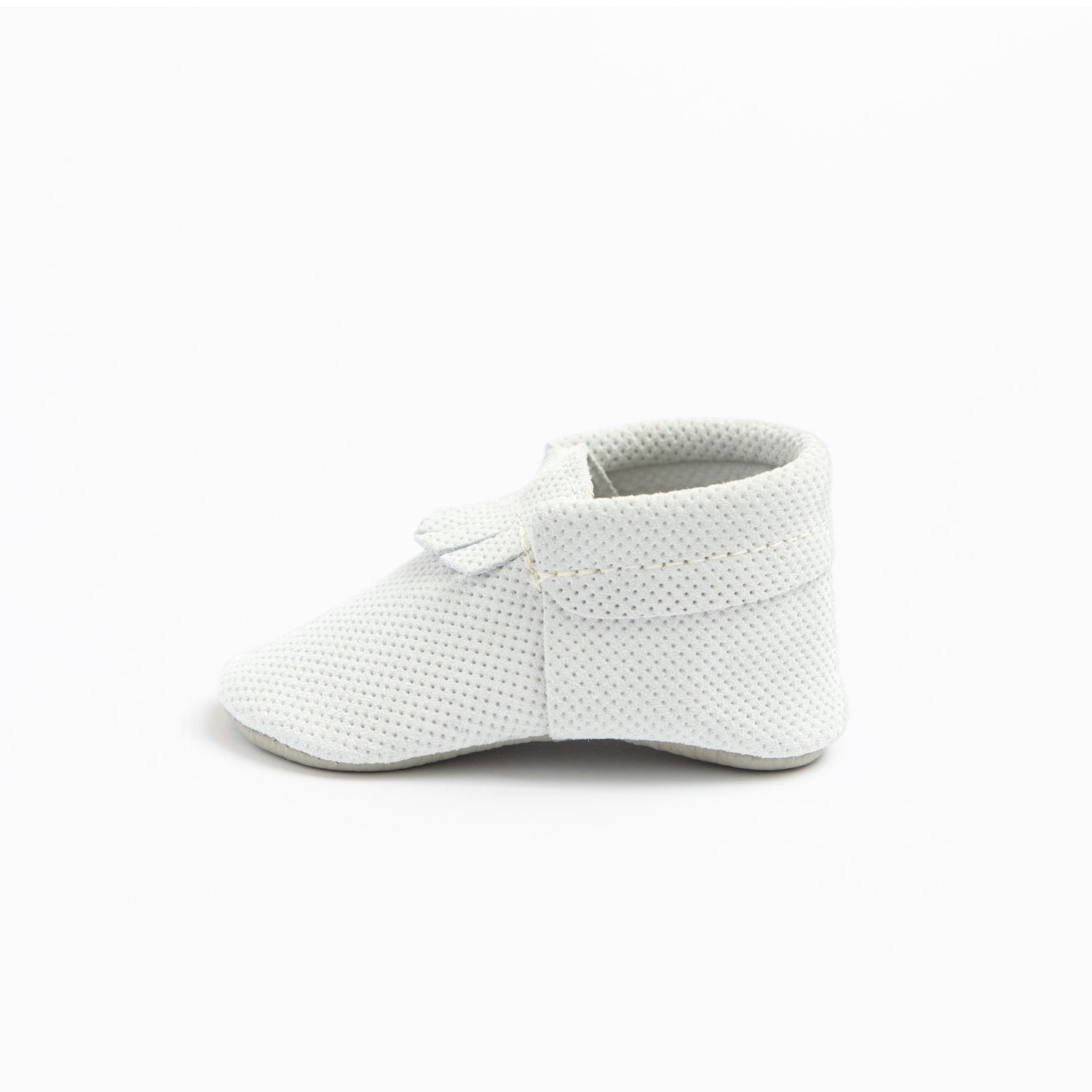 White Perforated Suede City Mocc City Moccs Soft Soles