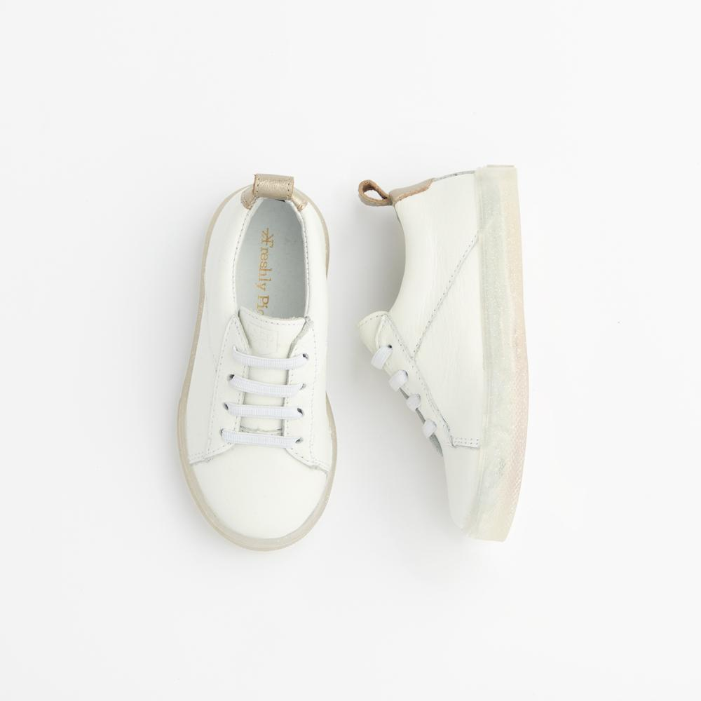 White with Glitter Classic Sneaker Kids - Classic Sneaker Kids Sneakers