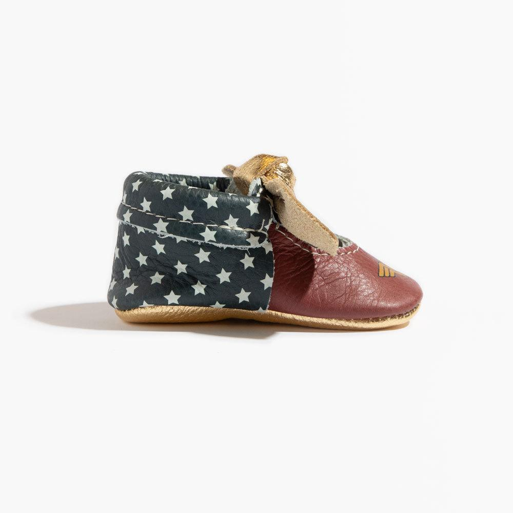 Wonder Woman Knotted Bow Mocc Mini Sole knotted bow mocc mini sole