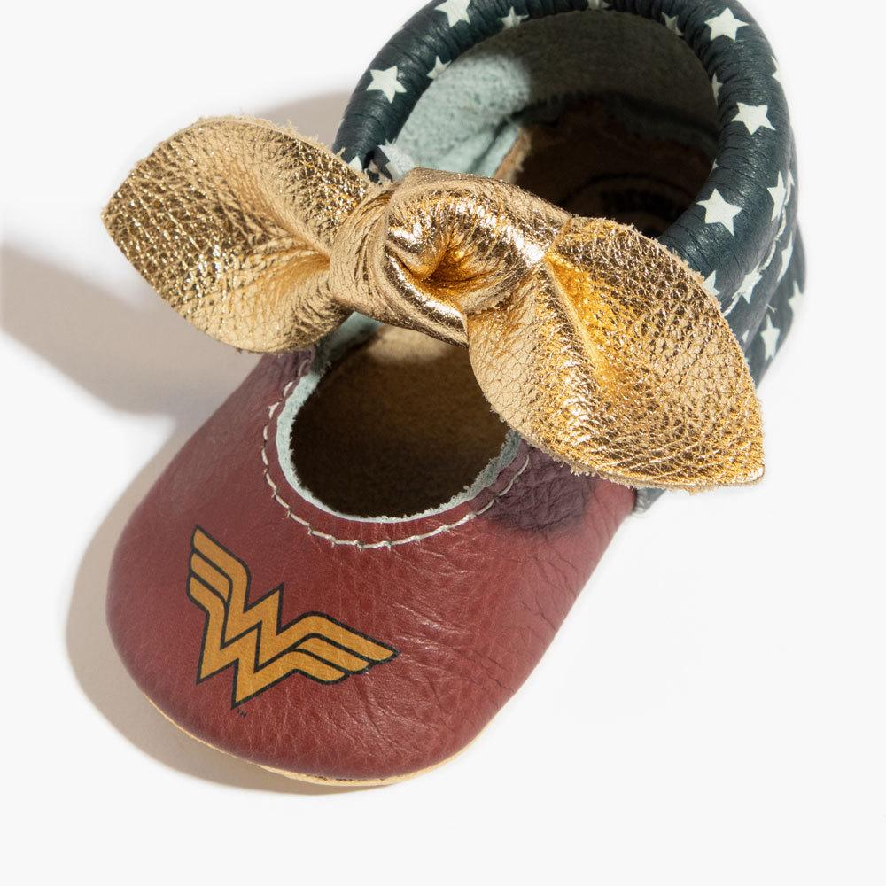 Wonder Woman Knotted Bow Mocc knotted bow mocc Soft Soles