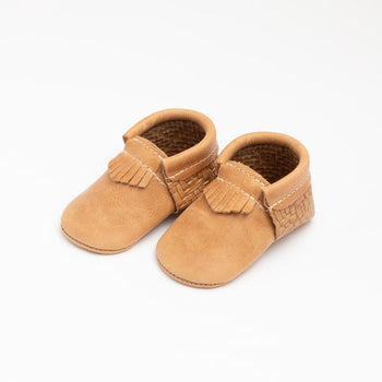 Woven Wheat City Mocc Mini Sole