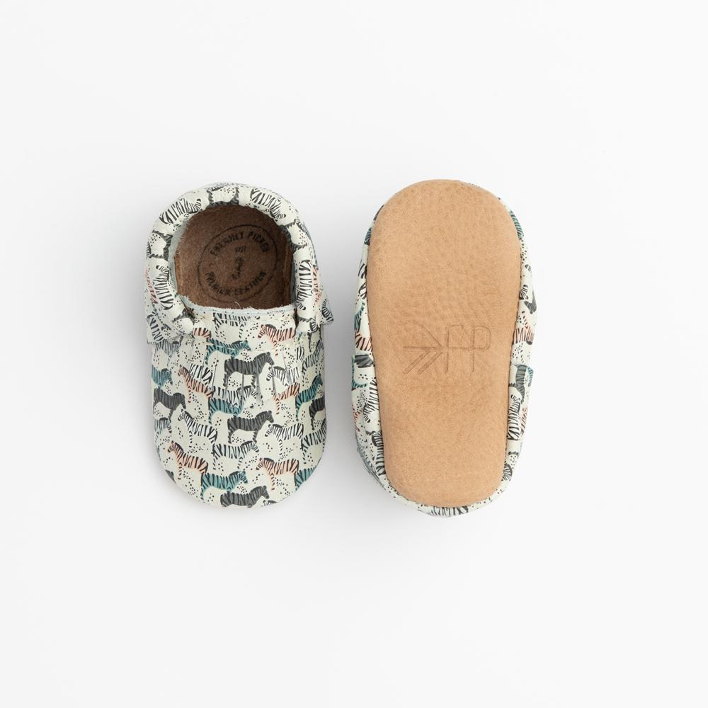 Zebra Safari City Mocc City Moccs Soft Soles