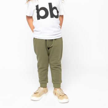 Olive Banded Bottom Jogger Kids - Jogger Kids Clothing