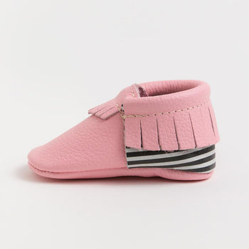 Bubblegum Licorice Moccasins Soft Soles