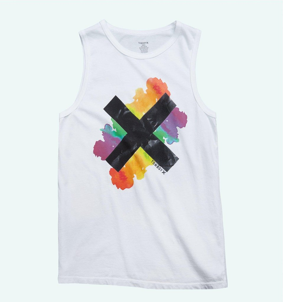 LIVE THE X MUSCLE TANK - WHITE