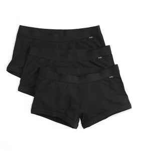 3 Pack Boy Shorts - Black-3 Pack-TomboyX