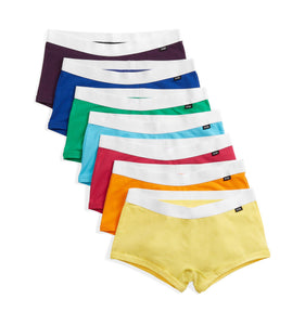 7 Pack Boy Shorts - Colors of the Rainbow-7 Pack-TomboyX
