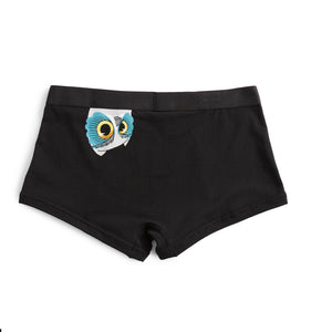 Boy Shorts - Cheeky Owl Print-Underwear-TomboyX