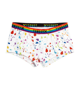 Exclusive: Boy Shorts - Paint the Rainbow Print-Underwear-TomboyX