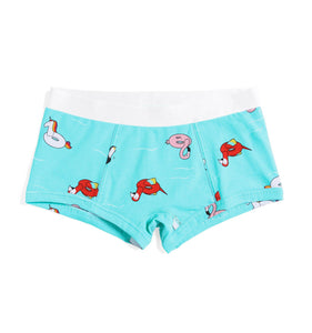 Boy Shorts - Pool Party Print-Underwear-TomboyX