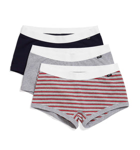 3 Pack Boy Shorts - Prep School-3 Pack-TomboyX