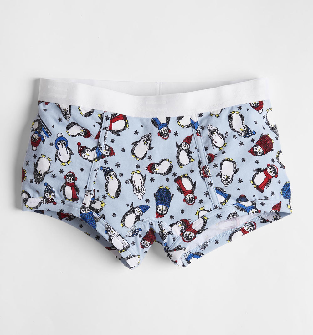 Boy Shorts - Chilly Penguins Print-TomboyX