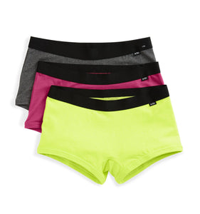 3 Pack Boy Shorts - Neon Nights-3 Pack-TomboyX