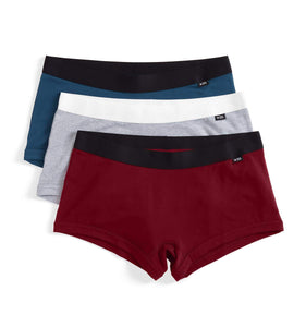 3 Pack Boy Shorts - Back Porch Blues-3 Pack-TomboyX
