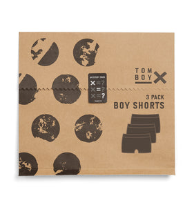 3 Pack Boy Shorts - Mystery-3 Pack-TomboyX