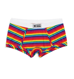 Boy Shorts - Micromodal Rainbow Pride Stripes-Underwear-TomboyX