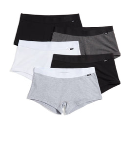Exclusive: 5 Pack Boy Shorts - Monochrome-5 Pack-TomboyX