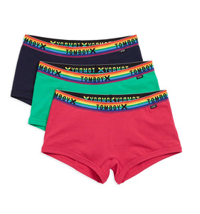 Exclusive: 3 Pack Boy Shorts - Rainbow Party Favor-3 Pack-TomboyX