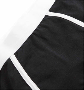 Boy Shorts - Active Drirelease® Black With White Trim-Underwear-TomboyX