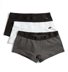 3 Pack Boy Shorts - The Gray Agenda-3 Pack-TomboyX