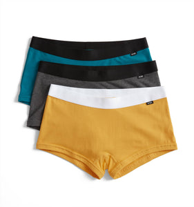 3 Pack Boy Shorts - Candelight-3 Pack-TomboyX