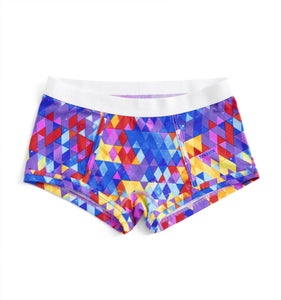 Boy Shorts - Kaleidoscope Print-Underwear-TomboyX