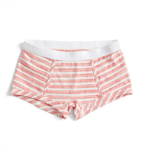 Boy Shorts - Red & White Stripes Print-Underwear-TomboyX