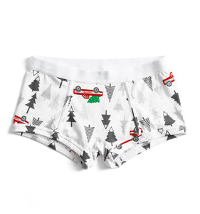 Boy Shorts - Bringing Home The Tree Print-Underwear-TomboyX